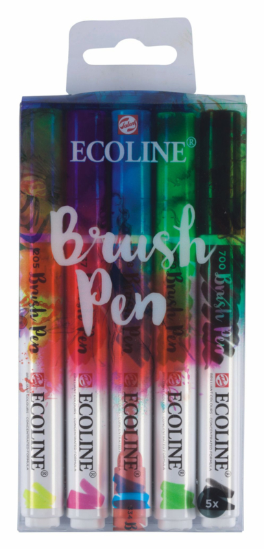Talens Ecoline Brushpen set of 5