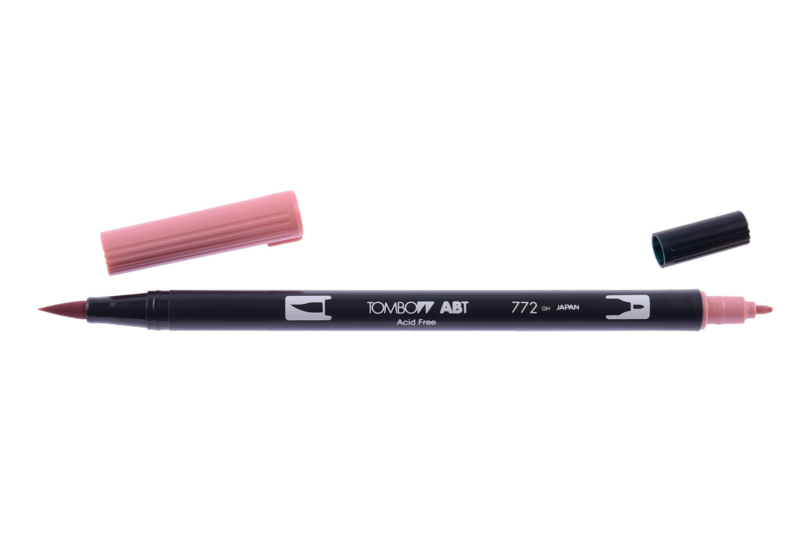 Tombow ABT DUAL BRUSH tekenpen. Kleur: blush (772)
