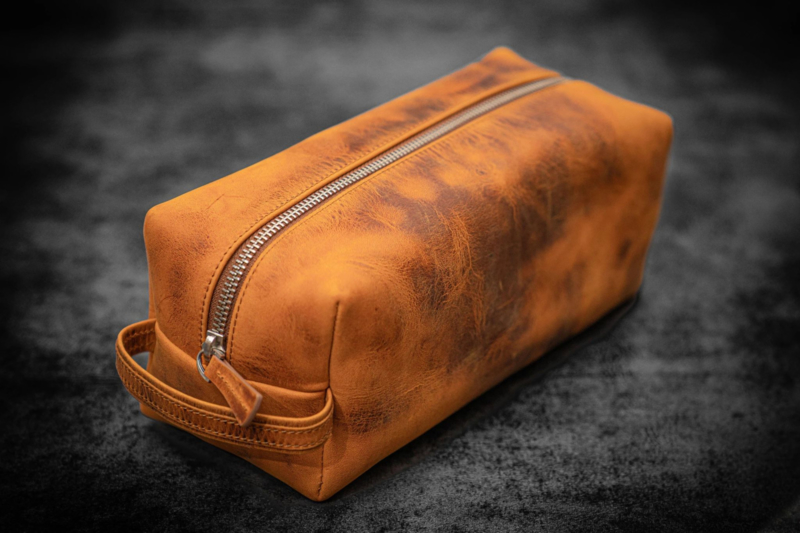 Galen Leather - Leather Classic Dopp Kit & Travel Toiletry Bag - Crazy Horse Brown