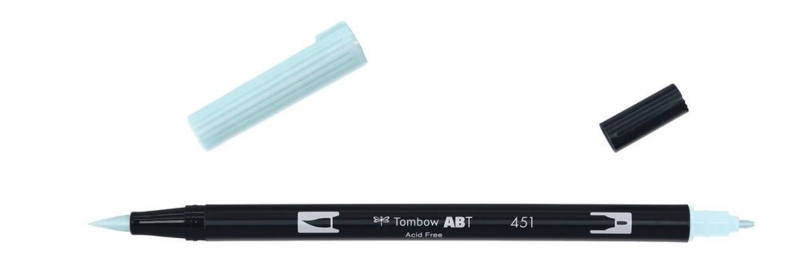 Tombow ABT DUAL BRUSH tekenpen. Kleur: sky blue (451)