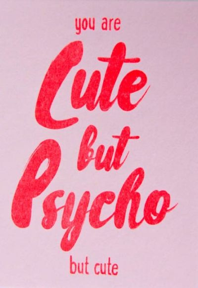 Studio Inktvis Kaart Cute but psycho