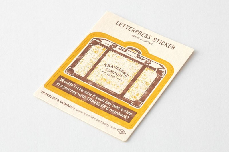 Letterpress Sticker Yellow - Travel Tools