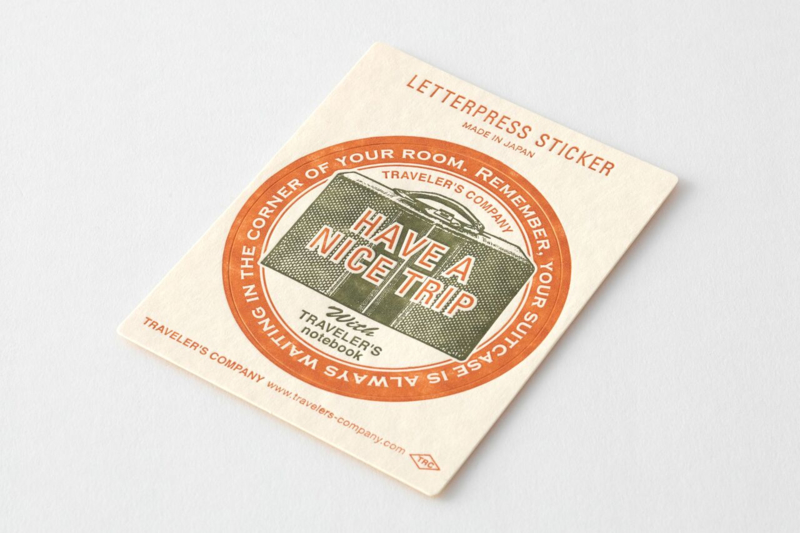 Letterpress Sticker Red - Travel Tools