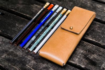 Galen Leather - Pencil Case for Blackwing pencils - Natural