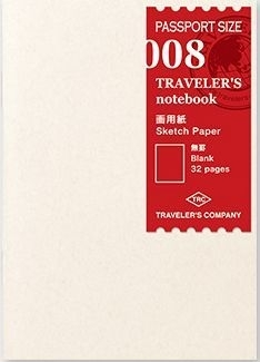 TRAVELER`S Notebook PP - Rf 008 : Sketch Paper