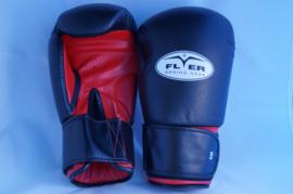 FLYER Bokshandschoenen leer zwart/rood maat SM