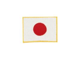 Opnaai embleem Japanse vlag 8x6cm