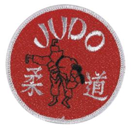 Opnaai embleem Judo rood