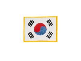 Opnaai embleem Koreaanse vlag 5x3cm
