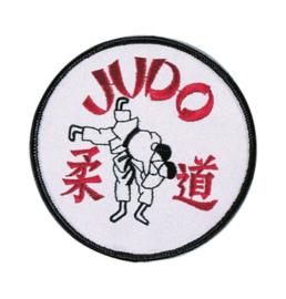 Opnaai embleem Judo wit/rood