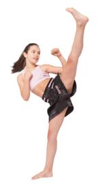 Kick - Thaiboksbroekje Zwart/Rose