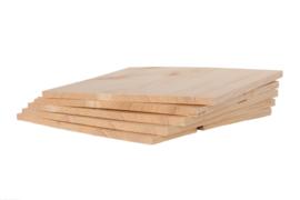 Set van 5 houten breekplanken 30x30x1cm
