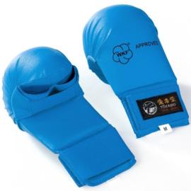 TOKAIDO WKF Karate handbeschermers BLAUW / RESTANT