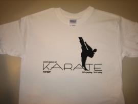 Karate T-Shirt wit met zwarte print