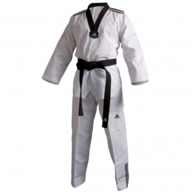 Adidas Taekwondo Pak / Dobok Adi-Club3 Zwarte V-hals