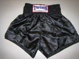 TWINS Kick - Thaiboksbroekje effen zwart maat L