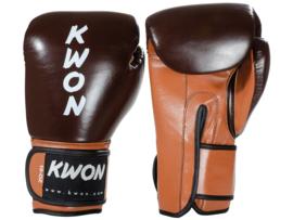 KWON Kickbokshandschoenen KO Champ 12oz Retro Bruin