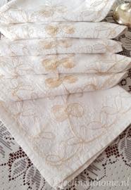 Vintage servetten, 6 st