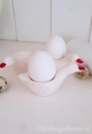 Vintage eierdopjes, 3 st