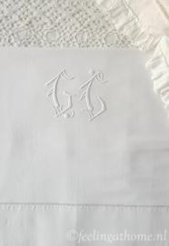 Antiek Frans laken, 210 breed
