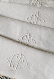 Antieke servetten, 4 st
