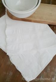 Brocante handdoek wafelstof