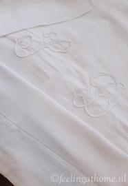 Antiek Frans laken, 190 breed