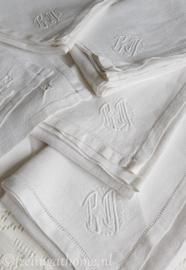 Antieke servetten, 8 st