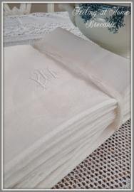 Antieke damasten servetten, 12 st