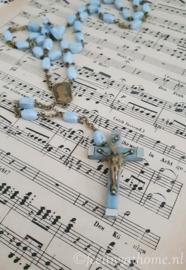 Oude blauwe rozenkrans