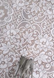 Kanten tafelkleed/gordijn 205 x 185