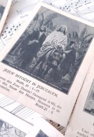 Antieke bidprentjes, 7 st