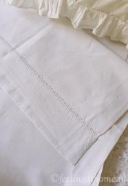 Antiek Frans linnen laken, 230 breed