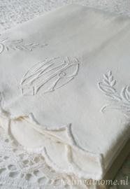 Antiek Frans laken, 200 breed