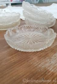 Glazen onderzetters, 6 st