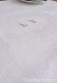 Antieke damasten servetten, 6 st