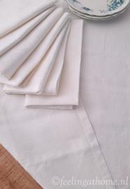 Damasten tafelkleed 160 x 145 + servetten