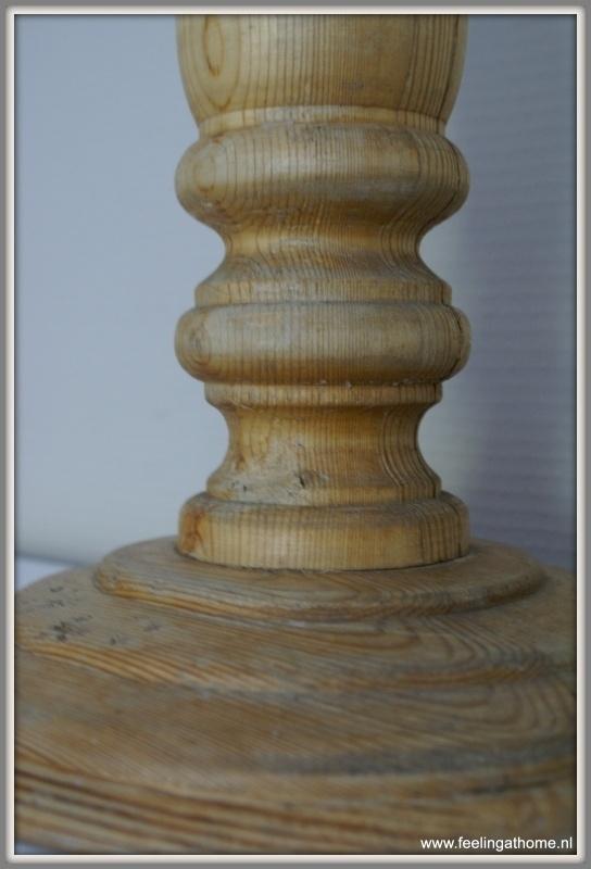 Onwijs Grote houten kandelaar 53 cm | Verkocht | Feeling At Home DJ-21