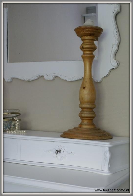Verrassend Grote houten kandelaar 53 cm | Verkocht | Feeling At Home RY-29