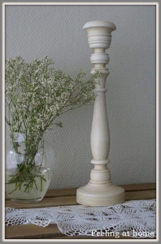 Fonkelnieuw Witte houten kandelaar | Verkocht | Feeling At Home ZD-07