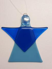 Kerstengel, blauw