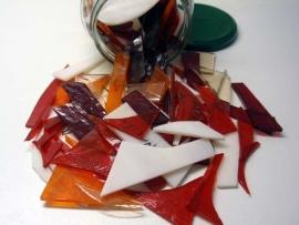 Rood-oranje- roze mozaiekmix  500 gram