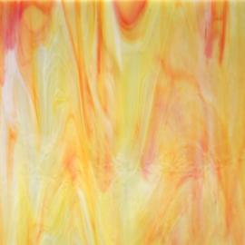 6076-83 CCF Helder Citroen oranje met structuur