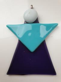 Kerstengel , paars turquoise