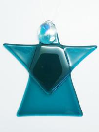 Kerstengel , blauwgroen