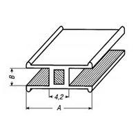 Lood H-profiel 8mm met staalkern.