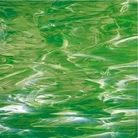 329-2F,  Licht groen wit Wispy,