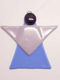 Kerstengel, blauw violet