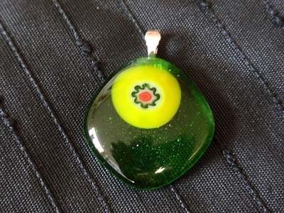 Groen Geel ketting hanger