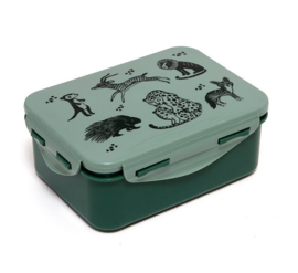 Petit Monkey - lunchbox - Black Animals - Salie